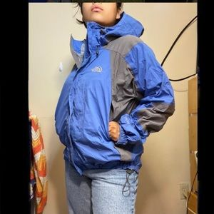 Baby blue The north face raincoat